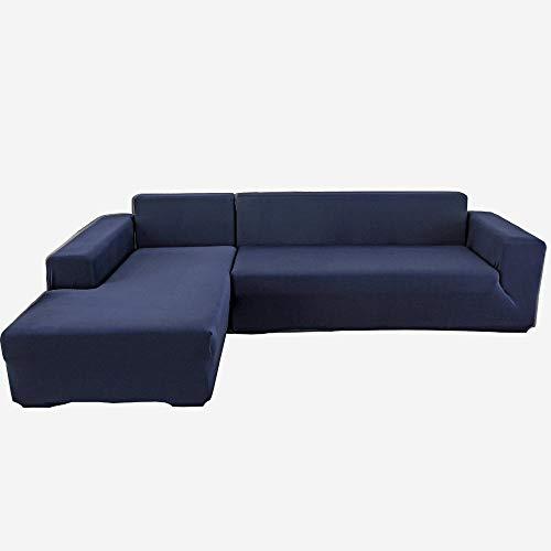 ZWMM Funda de sofá elástica 3 plazas Impermeables Funda para sofá Elasticidad retráctil 190~230cm fácil de Limpiar Adecuado para Mascotas Gatos y Perros-Azul