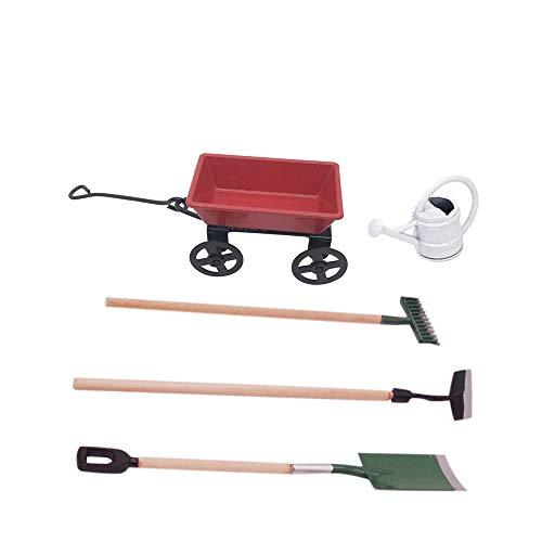 IWILCS 5 unidades en miniatura para jardín en miniatura, juego de casa de muñecas, decoración para jardín en miniatura