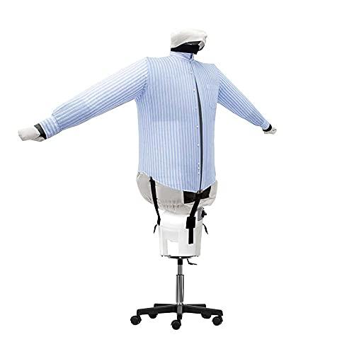 EOLO RepaSSecheur Repasse Sèche automatiquement chemises, chemisiers. Rafraîchir vêtements avec air froid Repassage vertical professionnel Base à 5 roues avec hauteur ajustable. Garantie 5 ans SA05 S