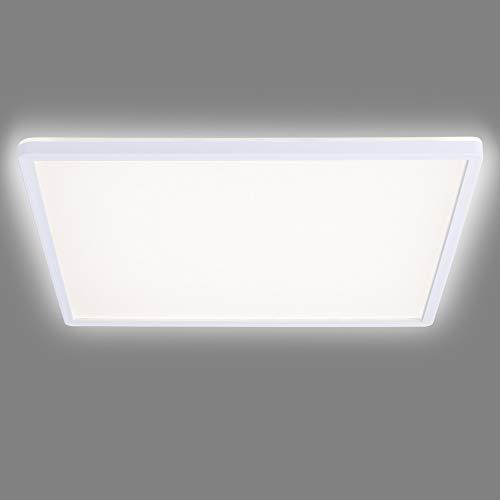 Navaris Lámpara LED de Techo - Iluminación Cuadrada 42 x 42 CM Moderna de bajo Consumo 22 W Efecto de luz indirecta - Eficiencia energétia Clase A