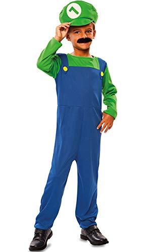 Fyasa 706394-t01Plumber costume, verde, medium