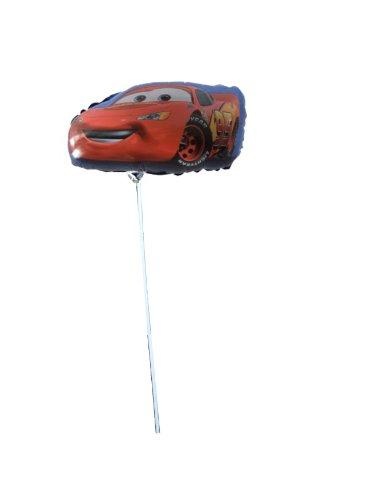 Folienballon Cars mit Luft gefüllt, am Stab, 36cmx24,5cm