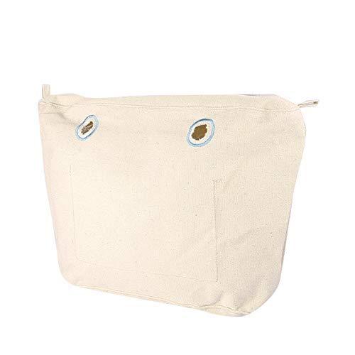 O bag Canvas Mini - Bolsa Interna Intercambiable Mujer, color Natural, 29x25x9 cm