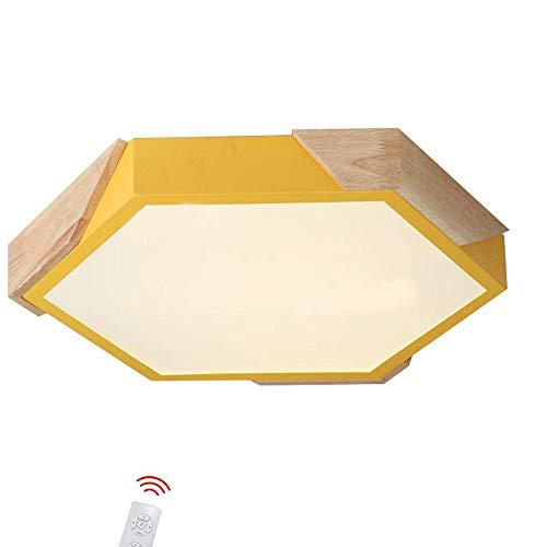 RUIXINBC LED plafondlamp Macaron Moderne kroonluchter, keuken badkamer dimbare LED-plafondlamp zeshoekig woonkamer creatieve plafondlamp