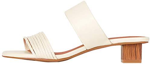 Amazon-Marke: find. MABEL-S-1A-3 Sandalen, Elfenbein (Off-White), 39 EU