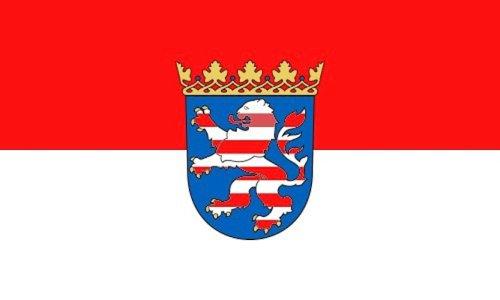 MM Hessen Flagge/Fahne, 150 x 90 cm, wetterfest, mehrfarbig, 16193