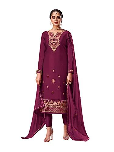 Punjabi Jam Seda Fantasía Fiesta Formal Musulmán Churidal Pajami Recto Mujer India Salwar kameez 6279 - - M