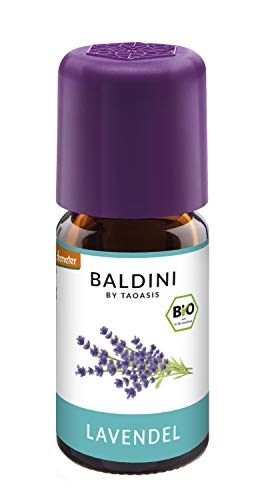 Baldini - Lavendelöl Bio, 100{5ce5dc58a1016206b510414a19b3137d6988af19023f65ff5622f34080e9f30a} Naturreines Ätherisches Bio Lavendel Öl Fein Aus Frankreich, Bio Aroma, 5 Ml