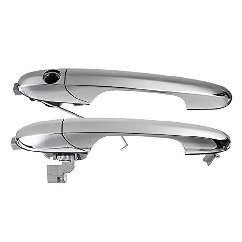 GGIS Coche RHD Mango de Puerta Exterior Izquierdo y Derecho Fit para Fiat 500 595 695 2007-2016 73545876 735592026 (Color : Silver)