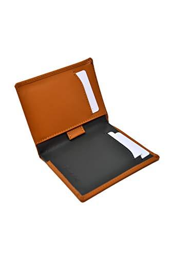 Schlanke Braun Kamel und Grau Herren Geldbörse - Echtes Leder - RFID Schutz - 11 Kreditkarten, Geldbeutel Brieftasche und Banknoten - Dünne, Klassisch