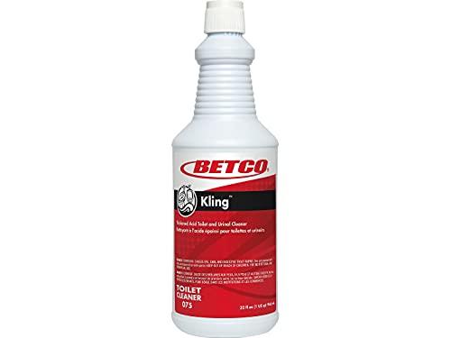 Betco 751200 Kling Toilet Bowl Cleaner, Mint-Wintergreen Scent, 32 Oz, 12/Carton