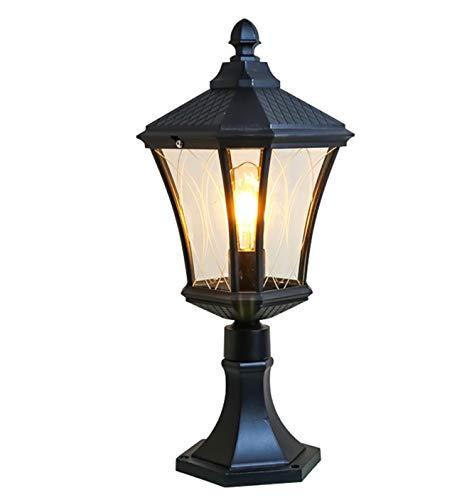 Phare de Colonne Lampe de Style européen Lampe de Pilier Lampe de Mur carré extérieur lumière Porte Pilier Jardin lumière Taille 16 * 23 * 45 cm