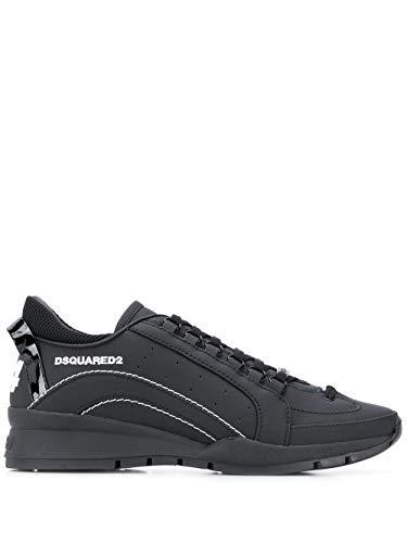 DSQUARED2 Luxury Fashion Herren SNM050530800001M063 Schwarz Leder Sneakers | Herbst Winter 20