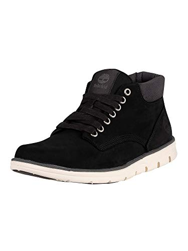 Timberland Bradstreet Chukka Leather, Stivali Uomo, Nero (Black Nubuck), 43.5 EU