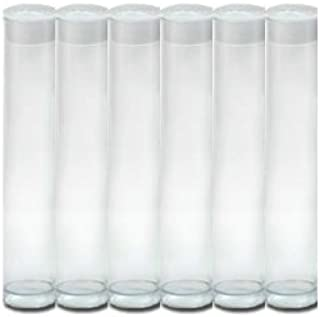 Wish Party Goods 6 Count Clear Gumball Tubes -8inx1in - Clear Plastic with Frosted Cap
