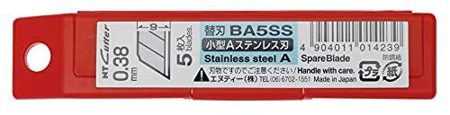 エヌティー NTカッター替刃 小型Aステンレス刃 5枚入 BA5SS
