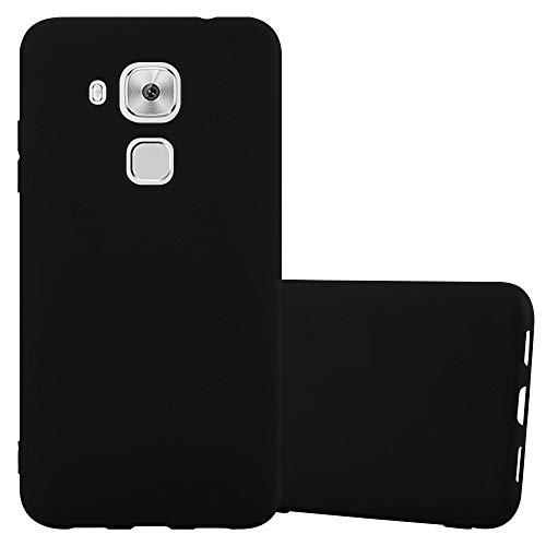 Cadorabo Funda para Huawei Nova Plus en Candy Negro – Cubierta Proteccíon de Silicona TPU Delgada e Flexible con Antichoque – Gel Case Cover Carcasa Ligera