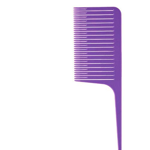 2020 Hot Highlight Weave Coiffure Hair Salon Dye Peigne Pour Cheveux Styling Rat Tail Peigne Fine-tooth Hair Comb Brush Brush Beauty Tools, PURPLE