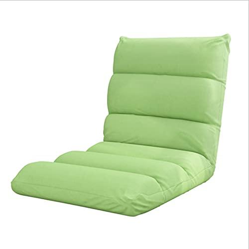 YIKANLIA Indoor Verstellbarer Bodenstuhl 5-Positionen klappbarer gepolsterter Kinder-Gaming-Sofa-Stuhl, perfekt zum Meditieren, Lesen, Fernsehen