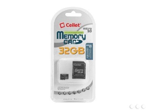 Cellet i-Mobile i680 Carte micro SDHC 32 Go formatée sur mesure pour un enregistrement numérique haute vitesse et sans perte Adaptateur SD standard inclus