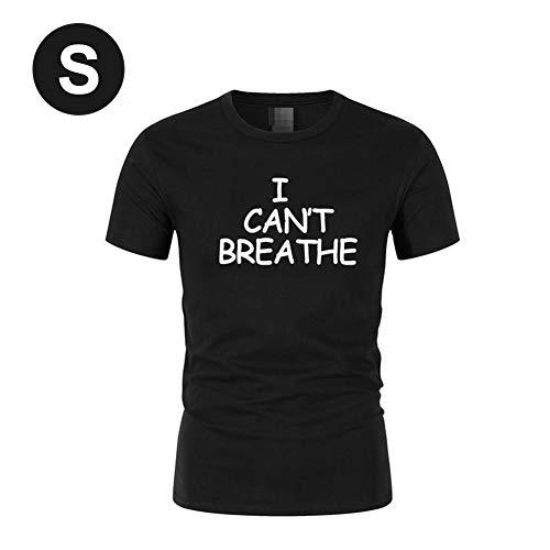 iBàste I Can't Breathe Protest Shirt T-Shirt Court imprimé à imprimé lâche pour Femme
