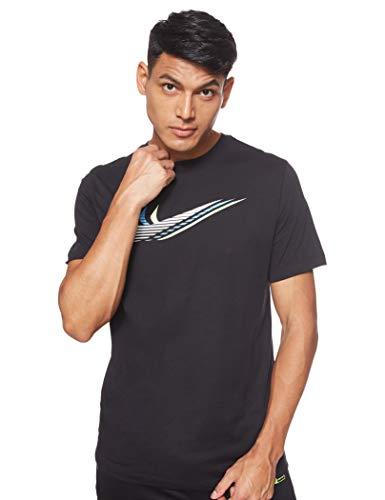 Nike Uomo Camiseta de Manga Corta Camicia, Black/White, XL