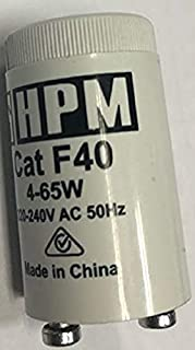 HPM F40 4-65W Fluorescent Starter 4-65W Fluorescent Starter, White