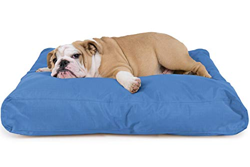 K9 Ballistics Tough Rectangle Nesting Medium Dog Bed - Washable, Durable and Waterproof Dog Bed - Made for Medium Dogs, 27'x33', Blue