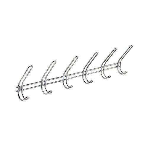 iDesign Over-the- Door Rack, Towel Coat Hooks, Wallmount 6, Wall Mount