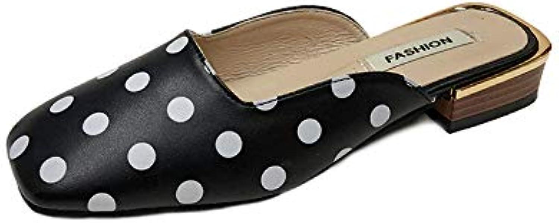 IINFINE Women's Low Slip On Mule Comfortable Slides