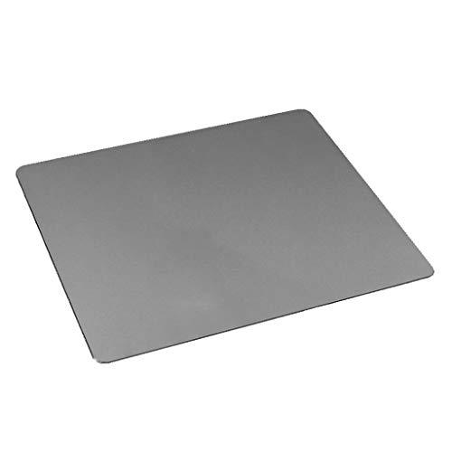 Viesky Anti-Slip Mousepad Gaming Muizen Mat voor Computer 22x18CM Aluminium Muismat Grijs
