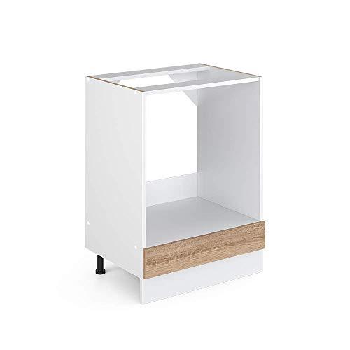Vicco Küchenschrank R-Line Hängeschrank Unterschrank Küchenzeile Küchenunterschrank Arbeitsplatte, Möbel verfügbar in anthrazit und weiß (Sonoma ohne Arbeitsplatte, Herdumbauschrank 60 cm)