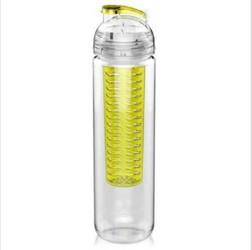 Laptone Wasser Trinkflasche für Fruchtschorlen, BPA-frei, viele Farbe erhältlich, Perfekte Sportflasche, spülmaschinenfesten, extra-Easy Trinkverschluss, 800 ml -Gelb