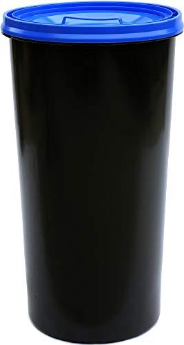 Gelber Sack Ständer anthrazit mit Deckel blau Müllständer Mülleimer 60 L