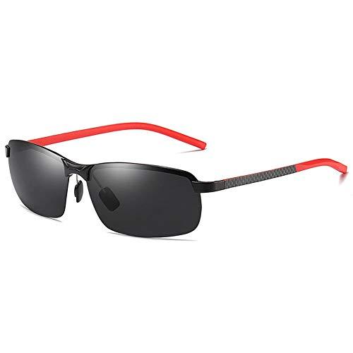 JIAGU Gafas de Sol de Estilo La Mitad De Los Hombres Marco D