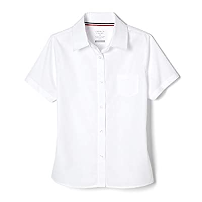 French Toast Girls' Short Sleeve Pointed Collar with Pocket Shirt