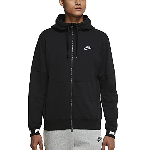 NIKE M NSW SPE+ FT FZ Hoodie HBR Sweatshirt, Black/Black/White, 2XL Mens