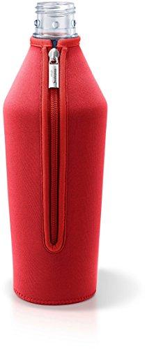 MySodapop A252217 Wassersprudler Zubehör, Glasüberzug, Neopren, 1 Liter, Rot