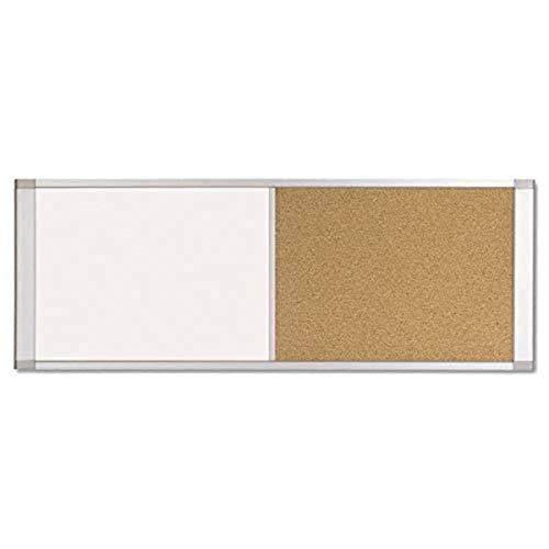 MasterVision Combo Board Magnetic Dry Erase Whiteboard/Cork Bulletin Board, 36' x 18', Aluminum Frame