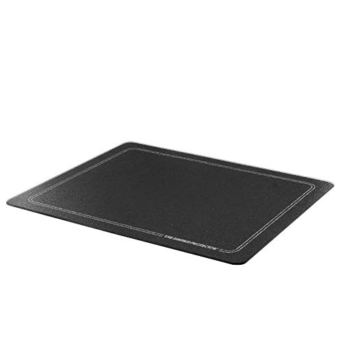 Vance Extra Large Black with White Border Surface Saver Cutting Board | Best Kitchen Chopping Board for Food Prep | 16 x 20 inch | Tempered Glass | BPA-Free | Non-Porous | Dishwasher Safe