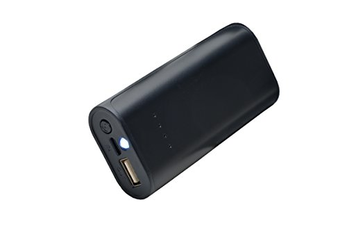 aricona PowerBank USB Universale e Compatto con Lampada Portatile a LED, per ricaricare contemporaneamente Fino a Due cellulari, Smartphone, Tablet e Altri dispositivi Mobile