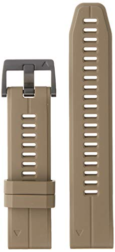Garmin 010-12740-05 Quickfit 22 Watch Band - Coyote Tan Silicone - Accessory Band for Fenix 5 Plus/Fenix 5