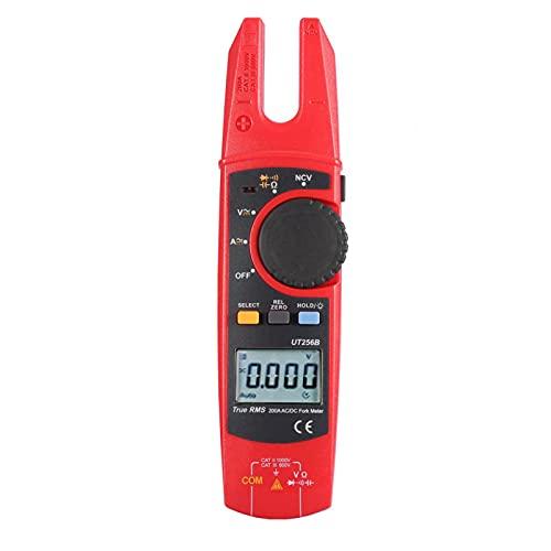 Pantalla LCD Digital Pinza amperimétrica Diodo 200A AC/DC Voltímetro de corriente Multímetro para telecomunicaciones para energía eléctrica