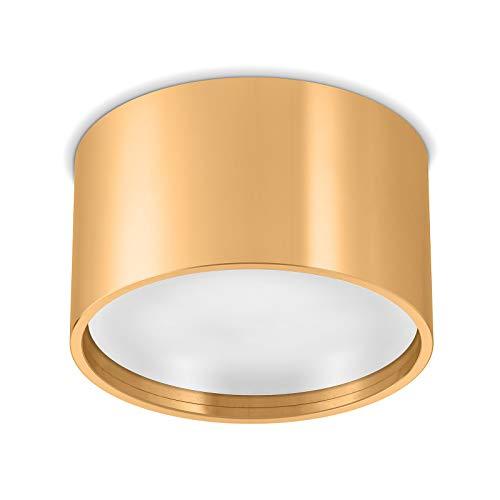 Ledox Led Aura Aufbaustrahler Set GX53 inkl. Leuchtmittel 230V 9W GX53 6000K tageslichtweiß Aluminium Aufbau-strahler-lampe-leuchte Decken-aufbau-leuchte-lampe-strahler (gold/messingoptik)