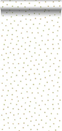 behang stippen wit en goud - 347673 - van Origin - luxury wallcoverings