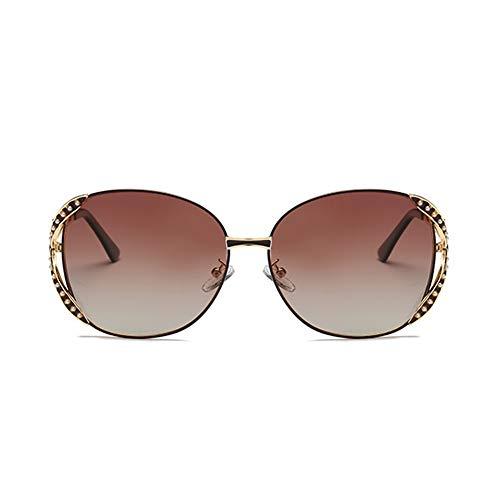 TSAR003 Gafas De Sol para Mujer Gafas De Sol Polarizadas Vintage para Mujer Gafas De Sol De Moda para Mujer Conducción Polarizada Antideslumbrante Gafas De Protección 100% UV B