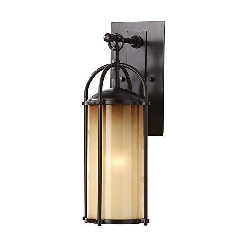 "Feiss OL7604HTBZ Dakota Outdoor Patio Lighting Wall Lantern, Bronze, 1-Light (6""W x 17""H) 100watts"