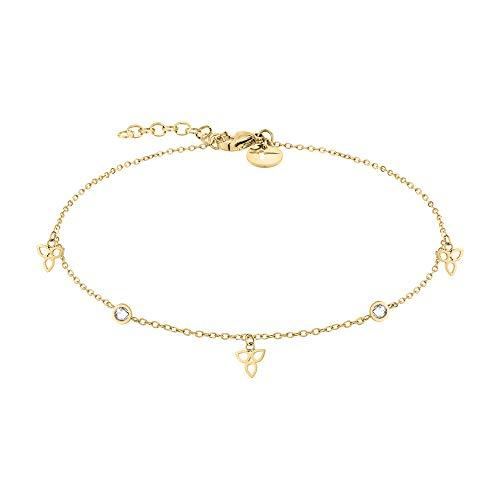 Tamaris Damen Fußkette in Gold aus Edelstahl TJ-0014-A-27