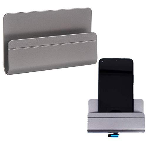 Soporte de Pared para Teléfono Soporte de Control Remoto Adherente Soporte de Carga para Teléfono Soportes para Móviles Compatible con Smartphones Almohadilla Tabletas color gris