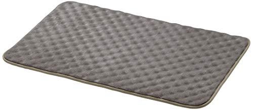 AmazonBasics - Badematte, Wellen-Struktur, Memory-Schaum, Grau, 50 x 80 cm, 2er-Pack